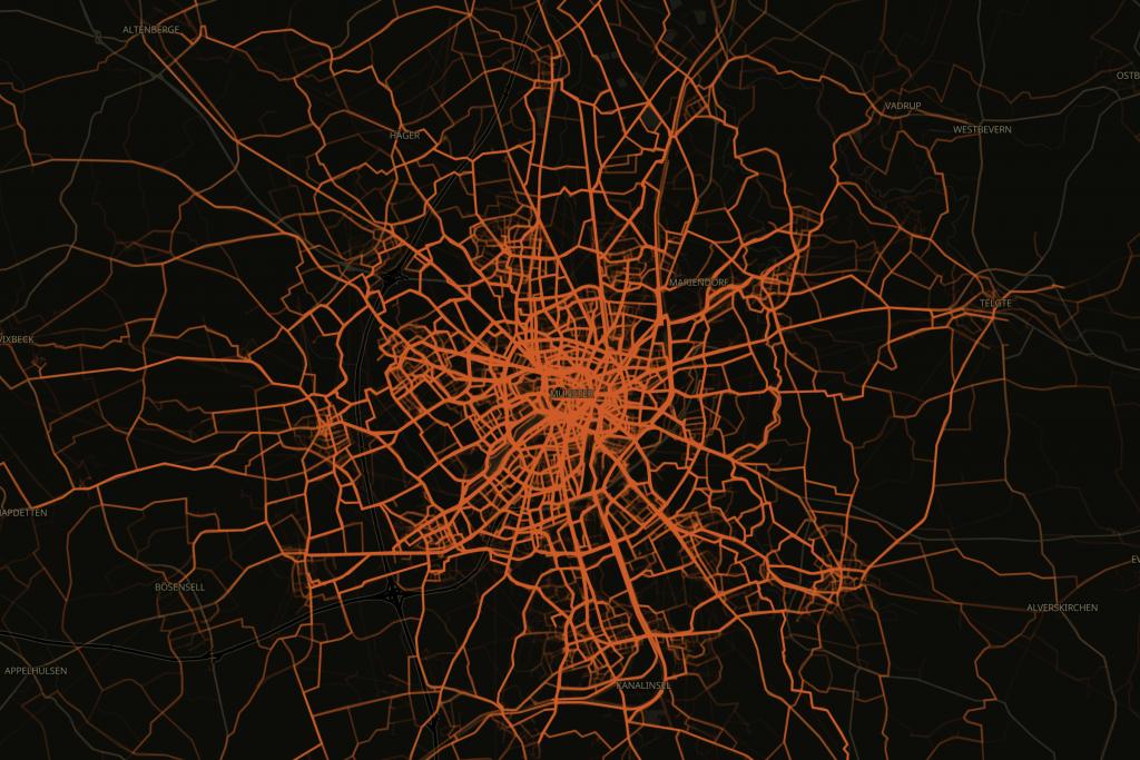 Mehrmals um die Welt für Münsters Radwege